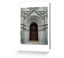 Through These Portals  Greeting Card