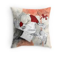 the helper Throw Pillow