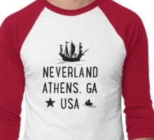 Neverland Athens, GA USA Men's Baseball ¾ T-Shirt