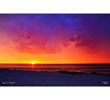Stormy Sunset Photographic Print