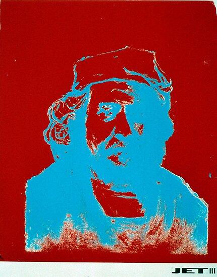 Red, White, & Blue Negative Rembrandt by JETIII