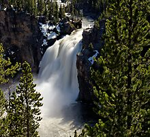 Upper Falls - Yellowstone River by Stephen Beattie