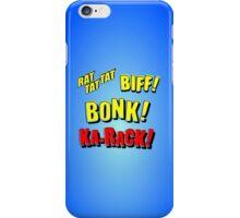 Cartoon RAT TAT TAT, BIFF! BONK! KA-RACK! by Chillee Wilson iPhone Case/Skin