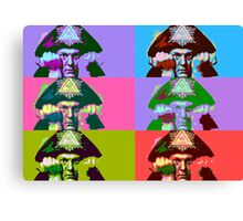 Aleister Crowley Pop Art Canvas Print