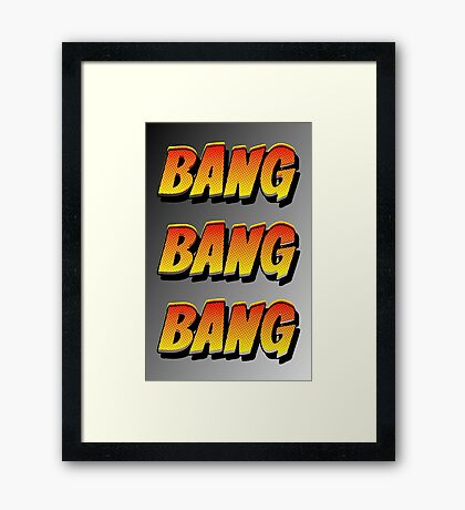 Cartoon BANG by Chillee Wilson Framed Print