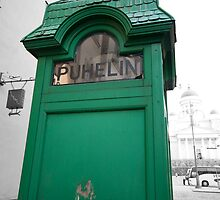 Green Phone Booth by robert cabrera