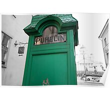 Green Phone Booth Poster