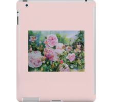 Pink Roses with Honeyeater  iPad Case/Skin