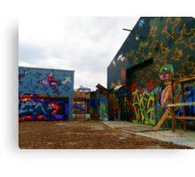 Graffiti Garage Canvas Print