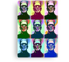 Frankenstein Pop Art Canvas Print