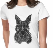 Scruffy Scottie Womens Fitted T-Shirt