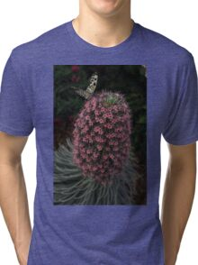 Millions of Tiny Flowers Plus a Butterfly Tri-blend T-Shirt