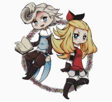 Edea and Ringabel by Reikiwie