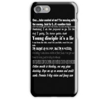 Kasabian Lyrics iPhone Case/Skin