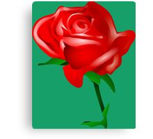 Red watercolor rose Canvas Print