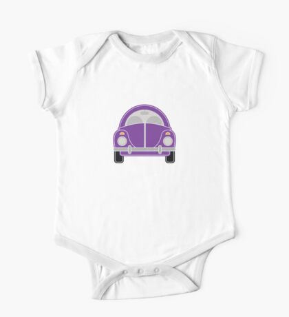 Purple Car One Piece - Short Sleeve