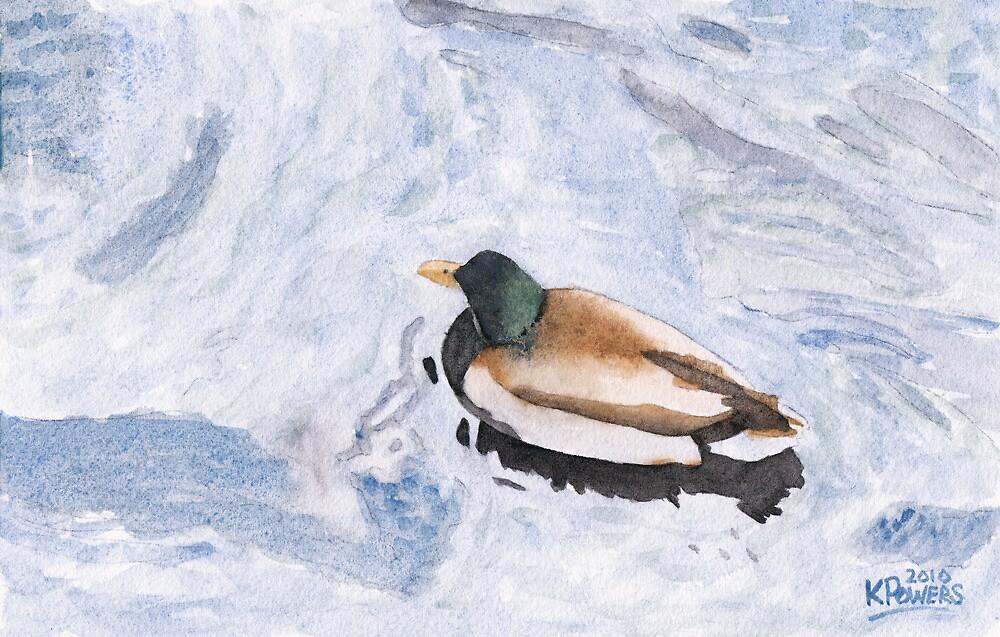 Snake Lake Duck Sketch by Ken Powers