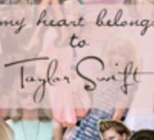 my heart belongs to taylor swift Sticker