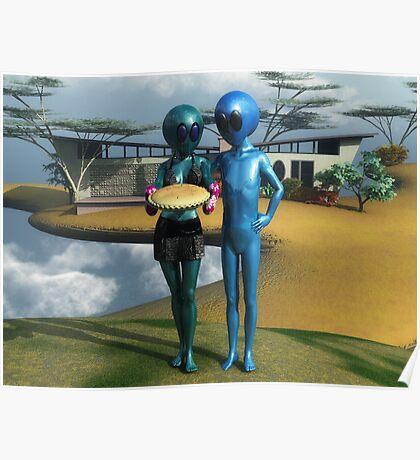 Blue Man Bungalow Poster