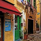 Clothes Drying and Pasta Cooking - Monterosso, Italy by T.J. Martin