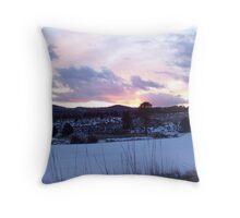 Winter Sunset on Big Flat Throw Pillow