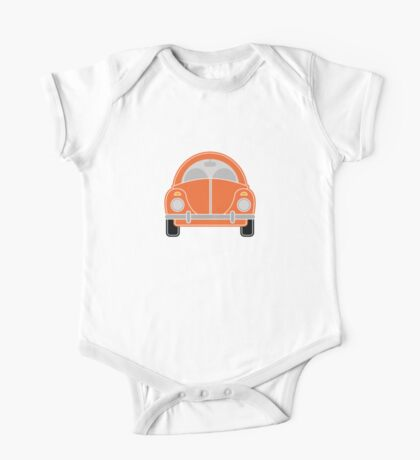 Orange Car One Piece - Short Sleeve