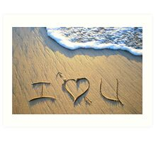 I 'heart' U! Art Print