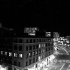 At The Corner of Boston & Boston (B&W) by Eric Socia