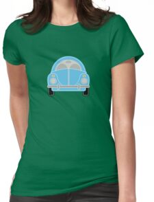 Blue Car Womens Fitted T-Shirt
