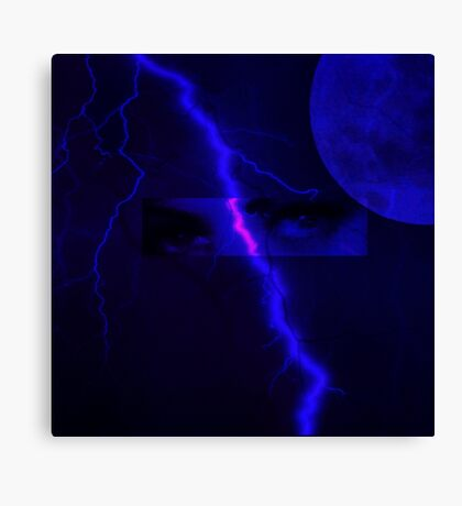 Eyes of the strom Canvas Print