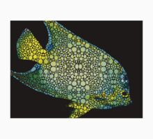 Tropical Fish Art 8 - Abstract Mosaic By Sharon Cummings Kids Clothes