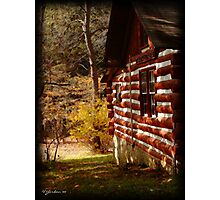 Red Log Cabin  Photographic Print