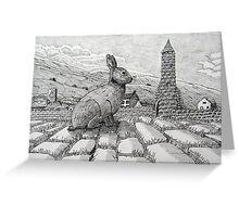 229 - IRISH ROUND TOWER BUNNY - DAVE EDWARDS - PIGMA MICRON PENS - 2010 Greeting Card