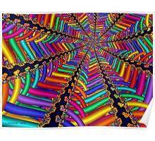 Rainbow Weave Poster
