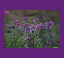 Autumn Colours - Purple Windflowers T-Shirt