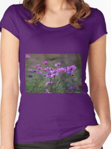 Autumn Colours - Purple Windflowers Women's Fitted Scoop T-Shirt