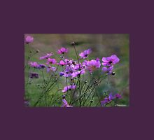 Autumn Colours - Purple Windflowers Womens Fitted T-Shirt