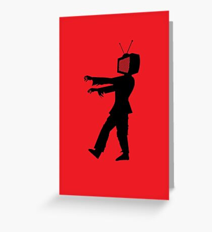 Zombie TV Guy by Chillee Wilson Greeting Card