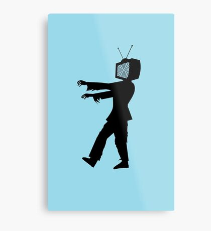 Zombie TV Guy by Chillee Wilson Metal Print