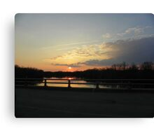 Drive by Sunrise Canvas Print