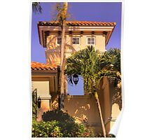 Belfry and tropical sky Poster