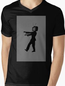 Zombie TV Guy by Chillee Wilson Mens V-Neck T-Shirt