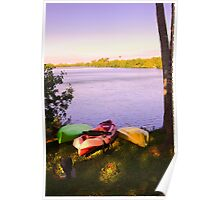 Canoes nested Poster