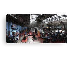 Motorbike Garage Canvas Print