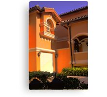 Entry to Mediterranean style residence in South Florida Canvas Print
