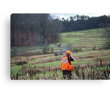 BIRD HUNTER BRINGS DOWN PHEASANT   Canvas Print
