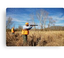 TAKING AIM ON BOB WHITE QUAIL Canvas Print