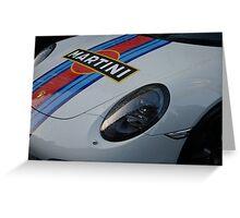 Porsche Martini Livery Detail Greeting Card