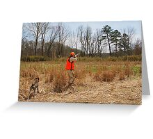 HUNTER FIRES AT A COVEY OF QUAIL  Greeting Card