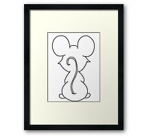 Mouse in the House Framed Print